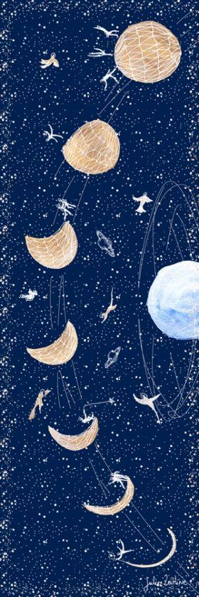 Arts Graphiques   Julie Zeitline   Le cycle de la lune   Tirage d'art en série limitée sur L'oeil ouvert
