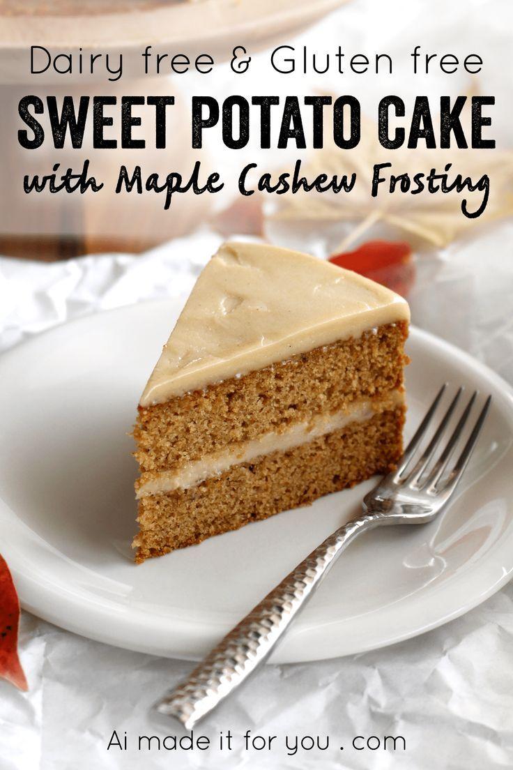 Sweet Potato Cake With Maple Cashew Frosting Recipe Dessert