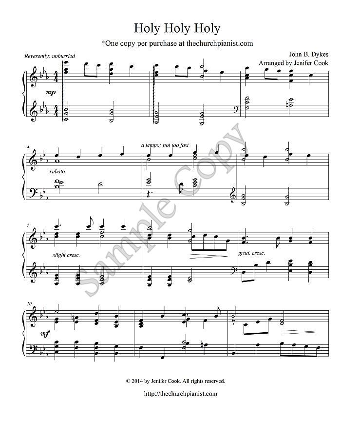 Advanced Sacred Piano Solo Holy