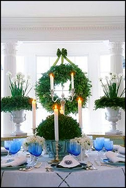 great ideas for using blue in your Christmas decor.