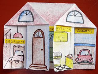 Love this, is a fun and easy project for children to learn and practise the parts of the house Thanks heaps to Beto Di Lello for sharing this idea