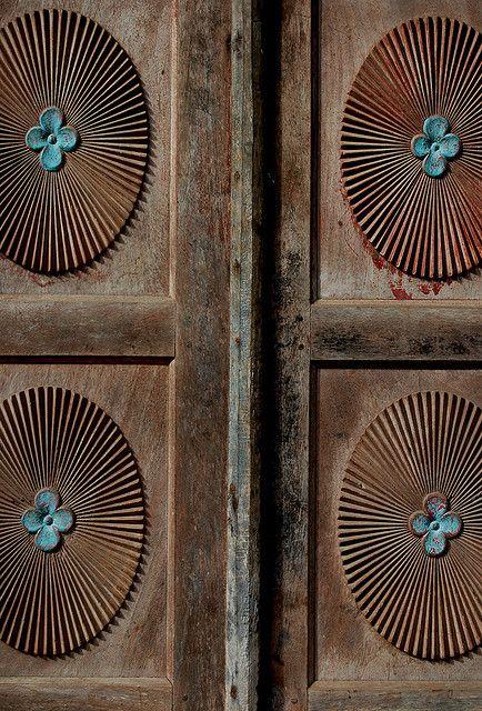 Old Door Blue on Brown by eenar_6 via Flickr