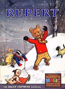 I used to love Ruper Bear annuals.  http://thetardyreader.blogspot.co.uk/2015/10/first-books.html