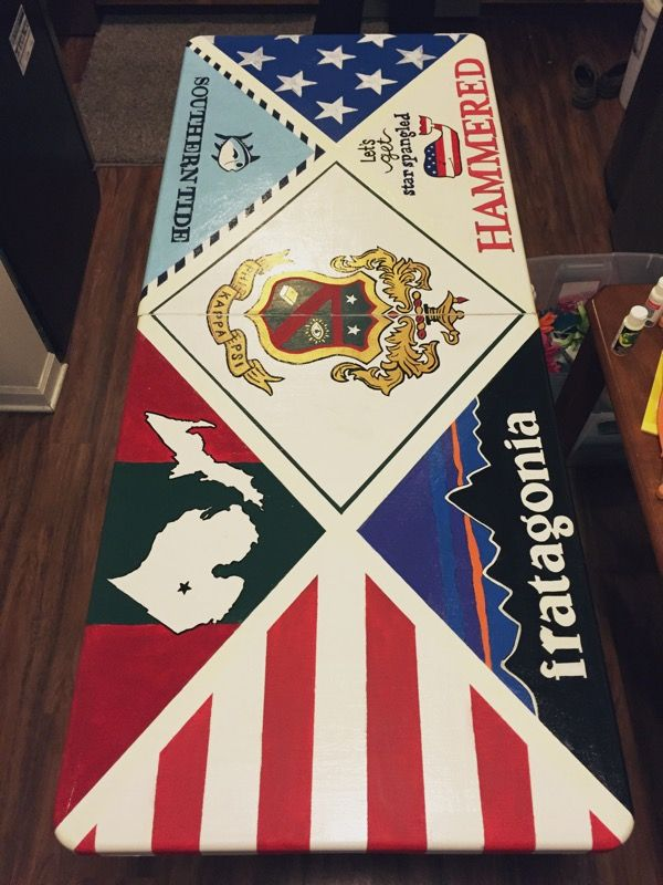 Phi Kappa Psi Michigan State Beer Pong Table featuring Vineyard Vines, Southern Tide, Patagonia