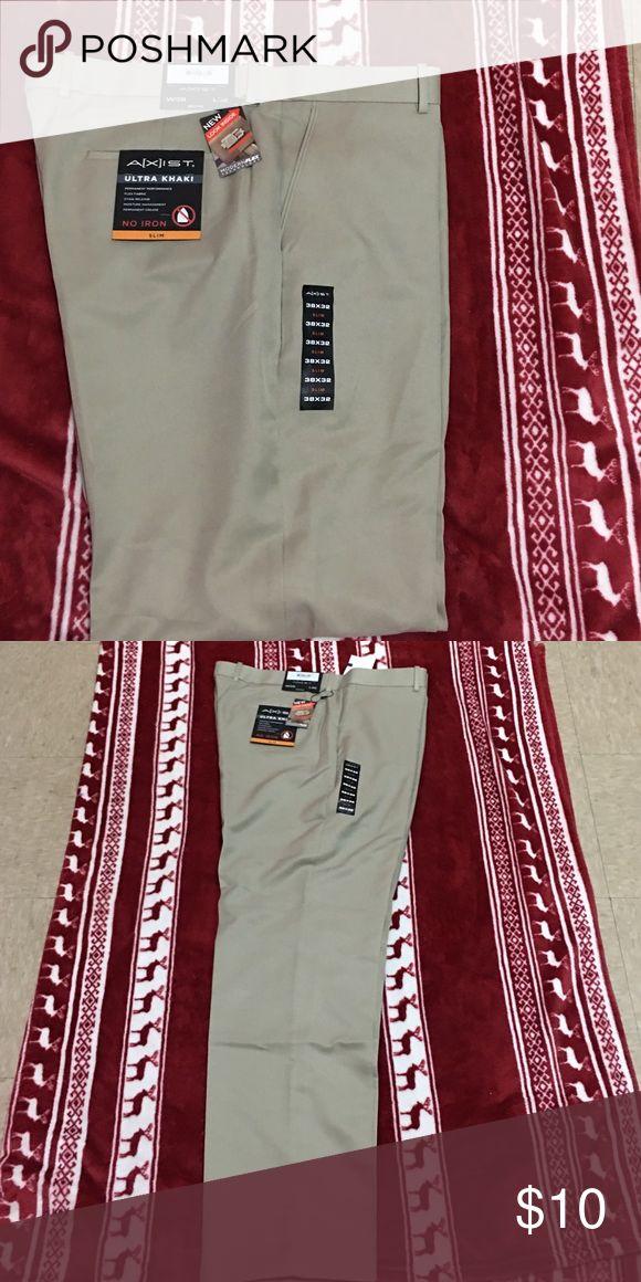 Men's Khaki Pants No Iron Slim Khaki Pants Pants Trousers