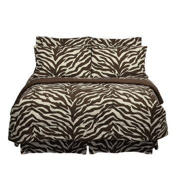 Cute for back bedroom.  Karin Maki Brown Zebra Bed Collection