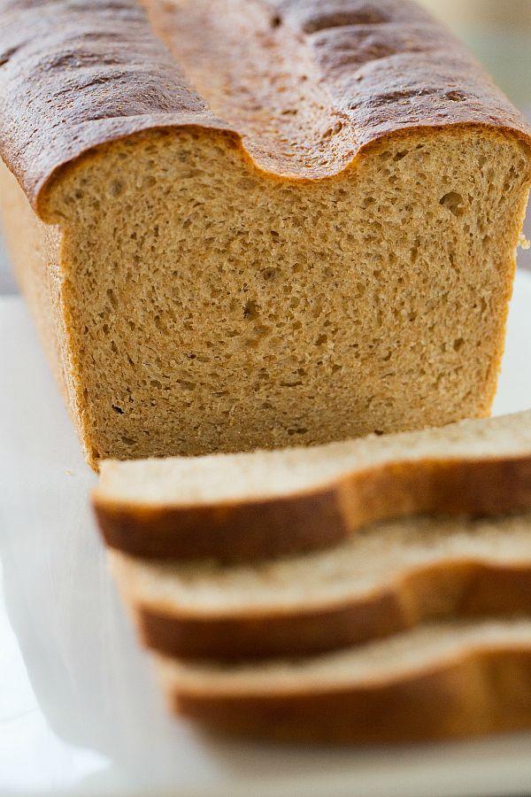 Whole Wheat Sandwich Bread | browneyedbaker.com #recipe #baking