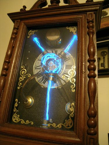 Steampunk Time Machine - complete with flux capacitor.