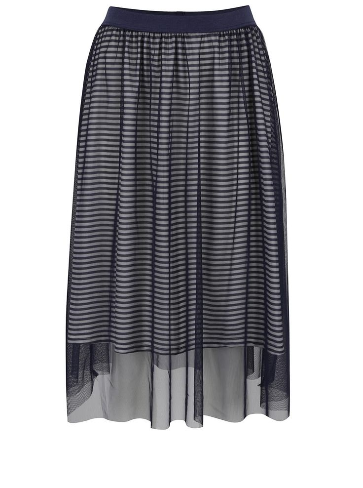 Tmavomodrá tylová sukňa ONLY Mesh