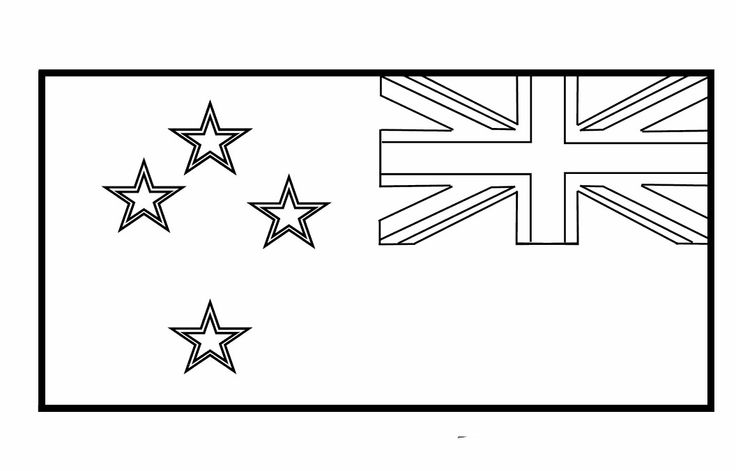 New Zealand Flags For Coloring