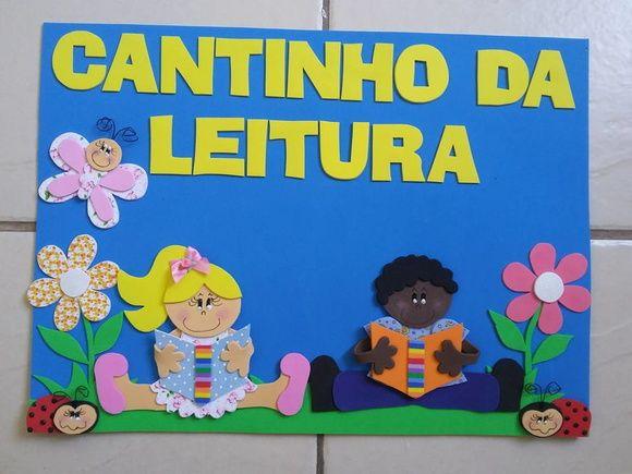Plaquinhas em EVA para nomear os cantinhos da sala de aula de turmas de educação infantil e alfabetização.  Sugestões:  Cantinho da Leitura  Cantinho de Ciências  Cantinho da Construção  Cantinho da Matemática  Cantinho dos Jogos/Brinquedos