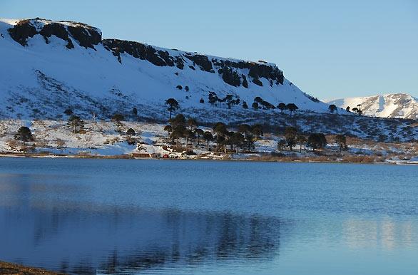 Se vuelve un espejo con la quitud. #Lago Caviahue - Caviahue - Neuquen