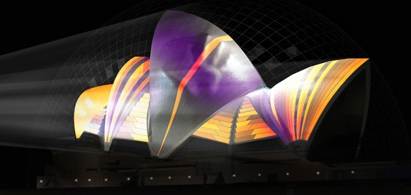 URBANSCREEN (Germany) - Lighting the Sails: Sydney Events at Vivid Sydney