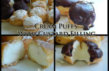 Cream Puffs With Custard Filling