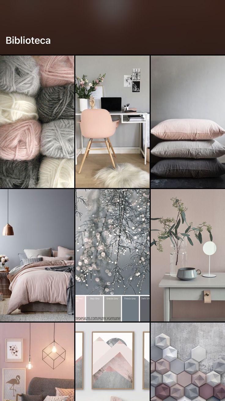 Cinza E Rosa Grey Pink Living Room Colors Bedroom Interior