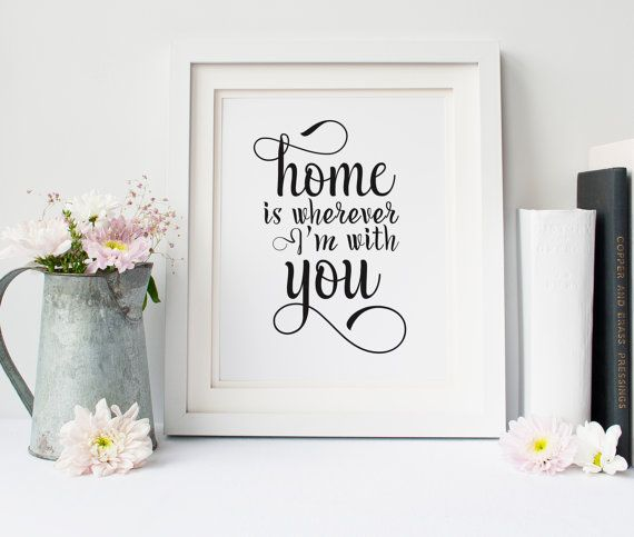 Home is wherever im with you printable, printable men gift, boyfriend gift, printable art, home sweet home, typography print, quote print