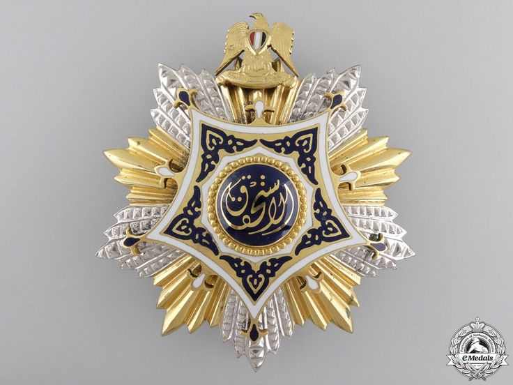 A 19531972 Egyptian Order of Merit; Grand Cross by Bichay