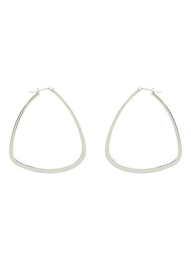 Triangle shaped earring. One Size. Metal.