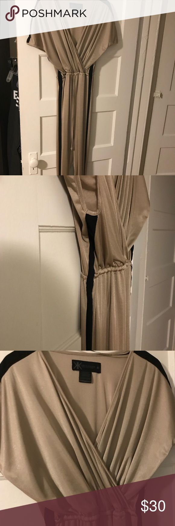 Kardashian Kollection Metallic Jumpsuit Metallic jumpsuit, worn once. Perfect outfit for a night out. Can be dressed up with heels or flats. Size M Kardashian Kollection Pants Jumpsuits & Rompers