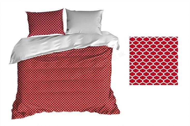 Bavlnené obliečky 140x200 červenej farby