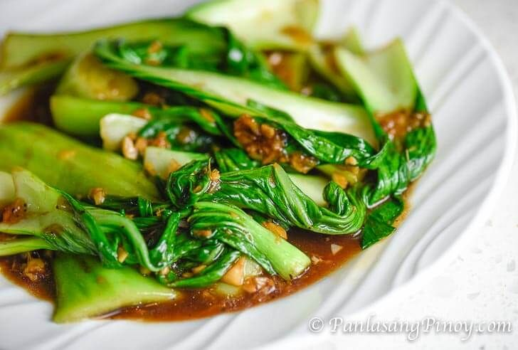 Bok Choy with Garlic and Oyster Sauce