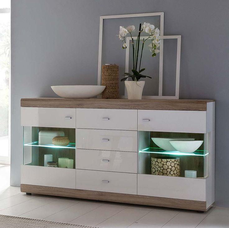 die besten 25 sideboard weiss hochglanz ideen auf. Black Bedroom Furniture Sets. Home Design Ideas