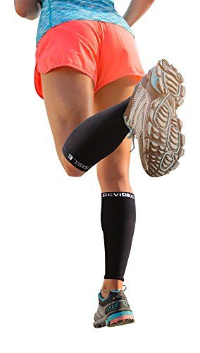 BeVisible Sports Calf Compression Sleeve 1 Pair Black * Check this awesome product by going to the link at the image.