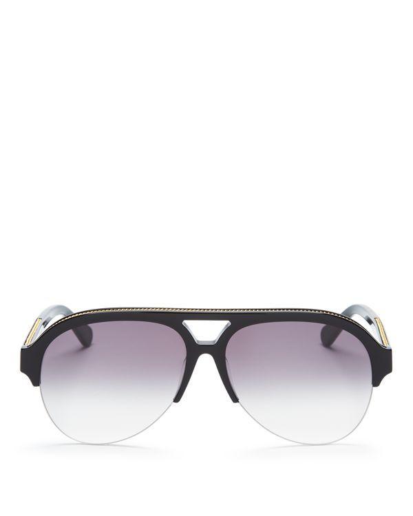 Stella McCartney Falabella Chain Aviator Sunglasses, 57mm