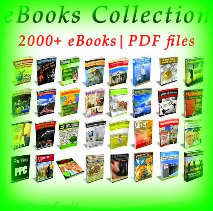 2000 Collection Package ebook-pdf 6 GB With Master Resell Rights Free Shipping