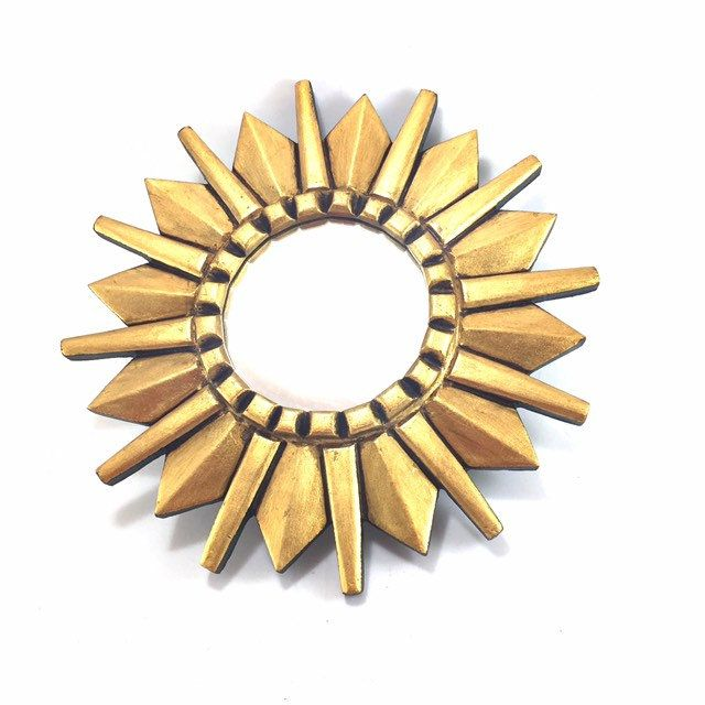 Gold Sunburst Mirror Starburst Small Round For