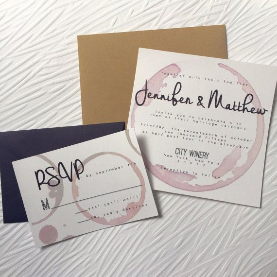 palomar winery wedding invitation by ottopaperie on etsy - Winery Wedding Invitations