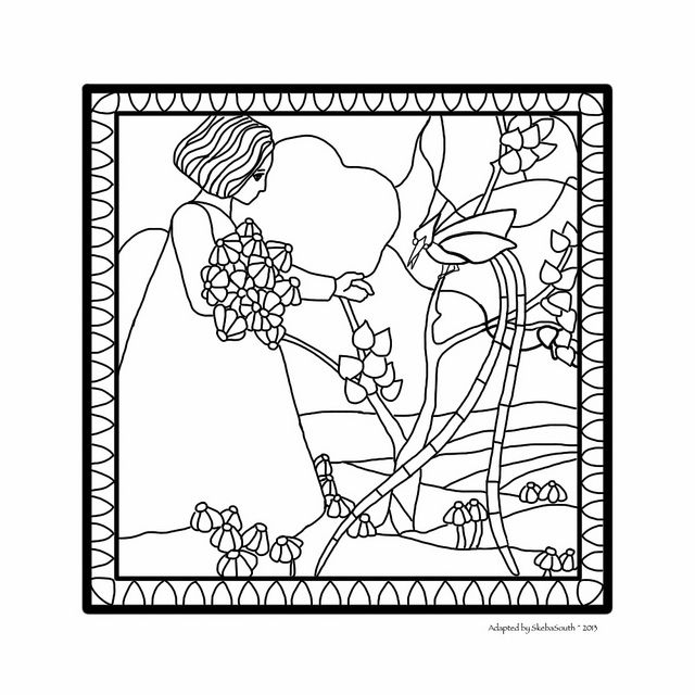 61 best Free Stained Glass Patterns from SkebaSouth images