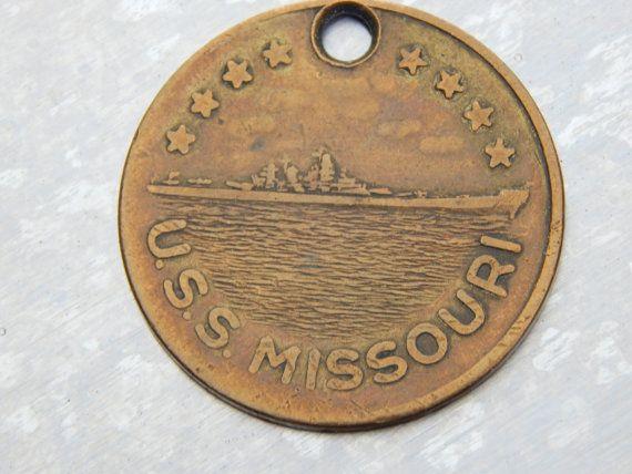 Original USS Missouri Coin USS Missouri WWII Japan Surrender