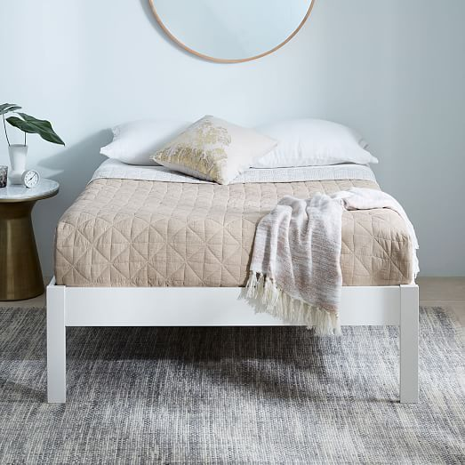 Simple Bed Frame - Tall (White) #westelm