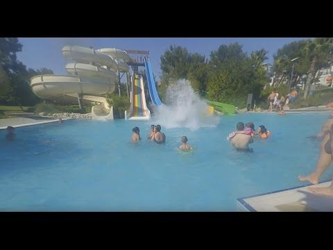 Lykia World & Golf Links Antalya blue water slide off grid video