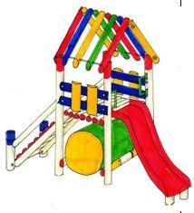 Parque Infantil en Madera Ref. GJP17