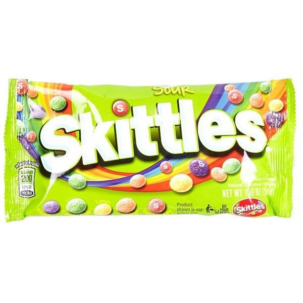 River Island Sour Skittles candy ($4) ❤ liked on Polyvore featuring food, food and drink, fillers, food & drink, candy, gifts and women