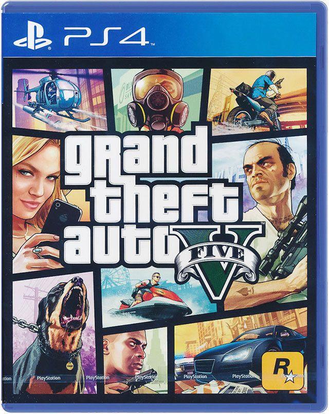 Grand Theft Auto V GTA 5 SONY PLAYSTATION 4 VIDEO GAME ROCKSTAR GAMES