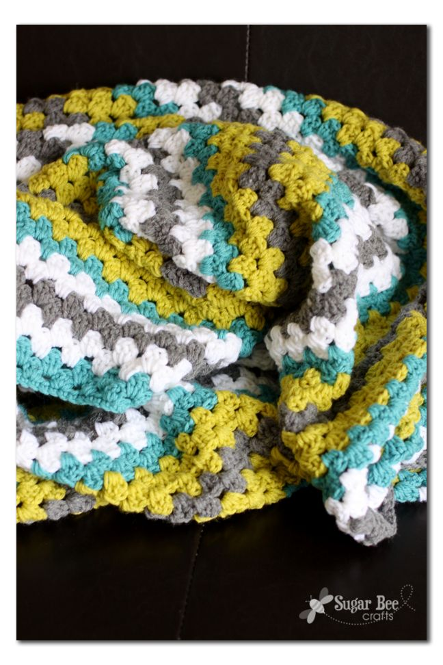 "Can you tell that I can't decide what to name this post?! the ""Crochet Afghan Throw Blanket"" – how about that title, right?!  I know it's technically an afghan, and that's the term I used growing up, but I don't know if everyone uses that term.  It was a 50/50 split when I asked on...Read More »"