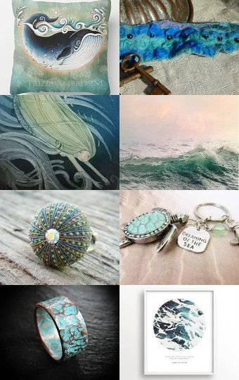 Mare- verde Acqua by Simona Muscuso on Etsy--Pinned with TreasuryPin.com