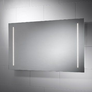 Assisi LED Bathroom Mirror With Lights X Sensor Switch Shaver Socket And Full Size Demister Pad