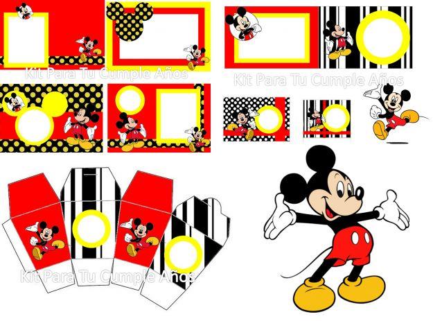 Kit imprimible gratis Mickey bebé - Imagui