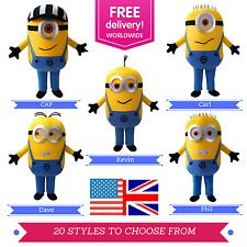 Minion Mascot Costume   Despicable Me Mascot Costumes    Full adult outfit