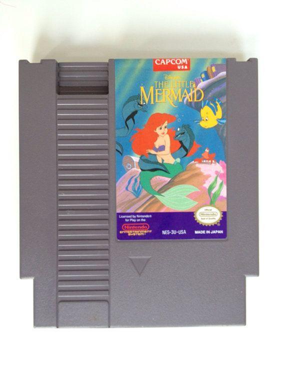 Vintage The Little Mermaid NES Nintendo Game