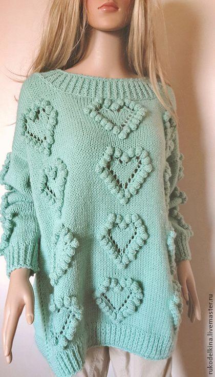 """Свитер с """"шишечками"""". Handmade. #knitting"""