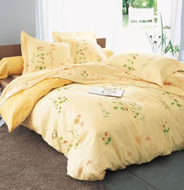 Collection de linge de lit en flanelle : Chèvrefeuille. Bain de lumière et douce sensation de chaleur dans votre chambre #lumière #flanelle #douceur #chaleur #francoisesaget