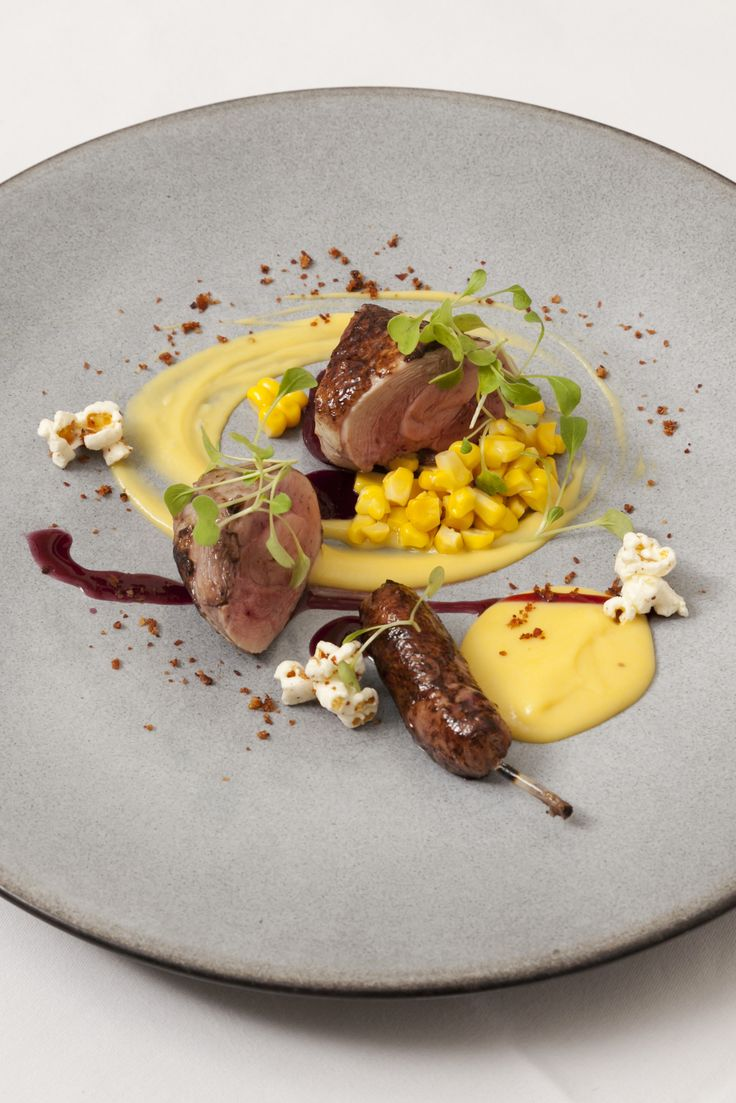 Agnar Sverrisson delivers an ingenious Anjou quail recipe, served with both sweetcorn and popcorn. The dish is quite challenging but is a signature dish of Sverrisson's - so well worth the effort.