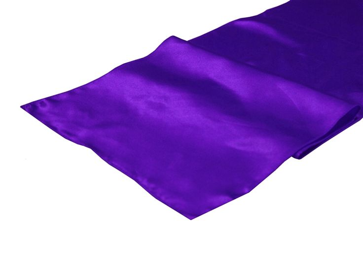 Table Runner (Satin) - Purple | Tablecloths Factory 12 x 108 @ 1.99