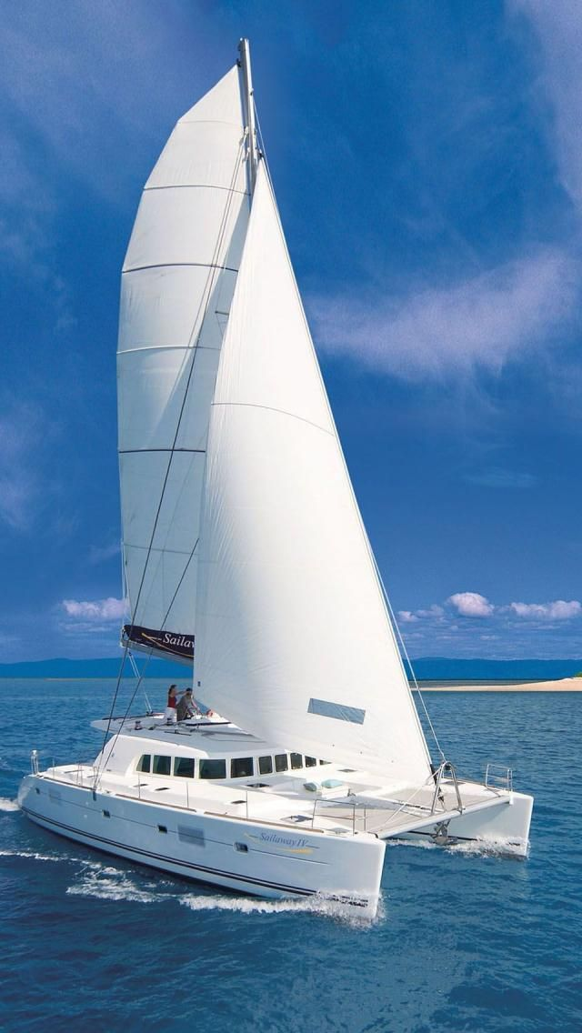 Sailaway IV Low Isles; is a Lagoon 500 Catamaran from France and carries up to 33 passengers. Port Douglas, Queensland, Australia.