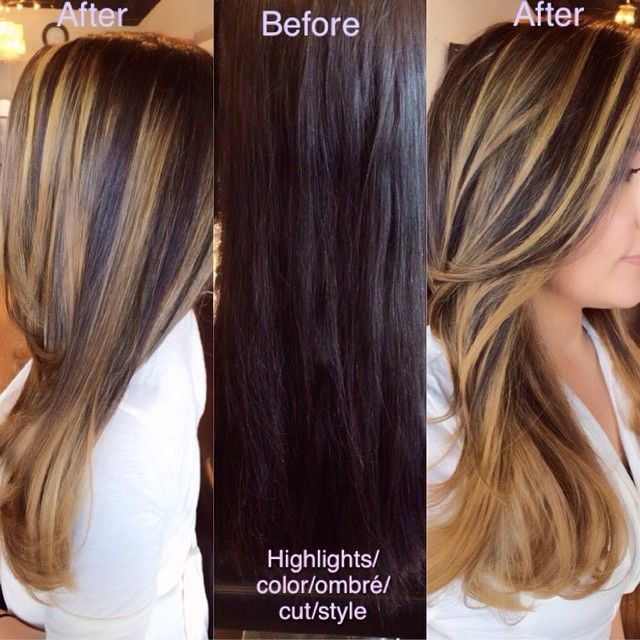 From Black Hair To Bold Carmel Highlights With An Ombr 233 ♛ н я ѕтуℓєѕ